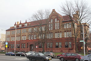 Jamaica High School - Former building on Hillside Ave., completed 1897