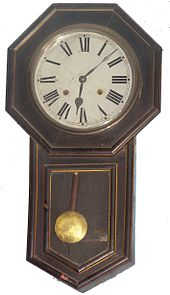 old wikipedia style schoolhouse clock wiki wall pendulum regulator watches