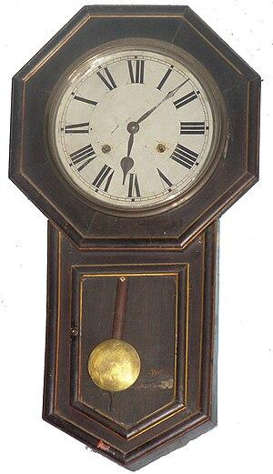 Bob (physics) - Pendulum clock with open bob
