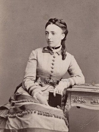 Princess Cecilie of Baden - The Grand Duchess of Russia in her youth, 1860s