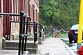 Olmstead Apartments on a rainy day in Cohoes, New York.jpg