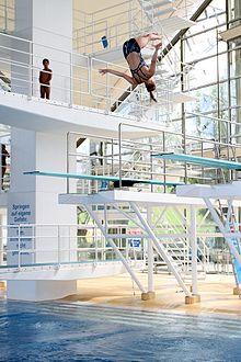 Plongeon de haut vol wikip dia for Club de natation piscine parc olympique
