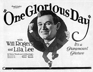 <i>One Glorious Day</i> 1922 film by James Cruze