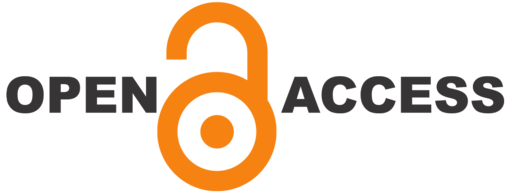 Open Access logo with dark text for contrast, on transparent background