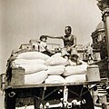 Operation Husky, truckload of American flour, invasion of Sicily, Italy, 1943 (23935017083).jpg