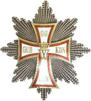 Peder Hansen Resen - Order of the Dannebrog, Breast Star with Grand Cross