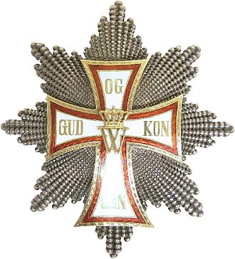 Order of the Dannebrog - Order of the Dannebrog, Breast Star with Grand Cross, unofficial model