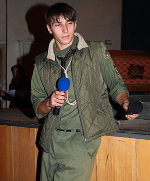 "Viktor Gurniak - Viktor Gurniak leading as MC at an artistic contest ""Orlykiada-2007"""