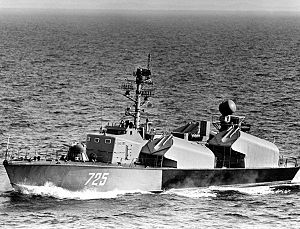 Missile boat - An Osa I class missile boat in 1983. The Osa class are probably the most numerous class of missile boats to have been built.