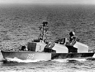 small warship armed with anti-ship missiles