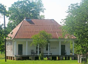 Oakland Plantation (Natchitoches, Louisiana) - Overseer's house at former Oakland Plantation (established 1821) in south Natchitoches Parish