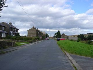 Oxenhope Village in West Yorkshire, England