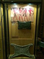 Oxhide ingots at the Numismatic Museum, Athens