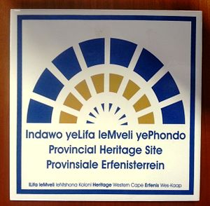 Provincial heritage site (South Africa) - The marker used to designate Provincial Heritage Sites in the Western Cape Province of South Africa.