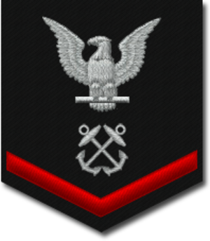 Petty officer third class - U.S. Navy petty officer third class sleeve rating badge for a boatswain's mate.