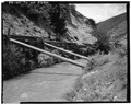 POWER CANAL, UNLINED SECTION, 1982. VIEW TO EAST. - Strawberry Valley Project, Payson, Utah County, UT HAER UTAH,25-PAYS,1-49.tif