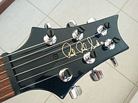 prs headstock and logo