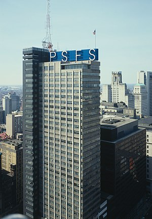 PSFS Building - The PSFS Building in 1985.