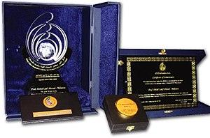 Prince Sultan bin Abdulaziz International Prize for Water - Image: PSIPW trophy & certificate