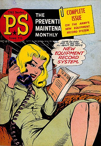 PS, The Preventive Maintenance Monthly - Character Connie Rodd on cover of PS issue 115, 1962