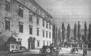 Wielopolski Palace - Image: Palac wielopolskich 1836