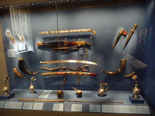 Weaponry Exhibition at Hermitage Museum in St Petersburg Russia