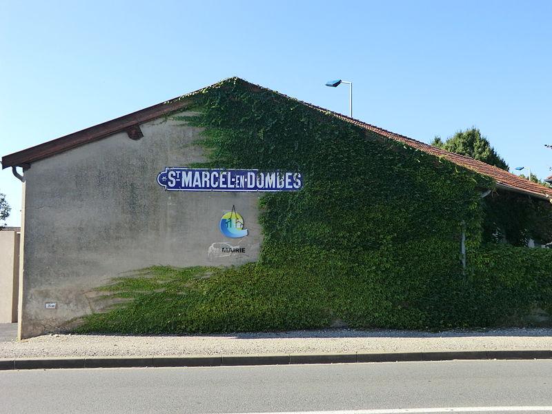 Panneau Saint-Marcel-en-Dombes.