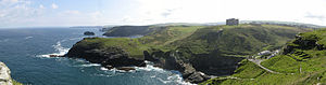 Cornovii (Cornwall) - The coast at Tintagel, a possible location of a settlement of the Cornovii