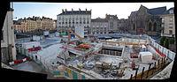 Panoramique de la Place Saint-Germain de Rennes en travaux - Samedi 15 Août 2015.jpg