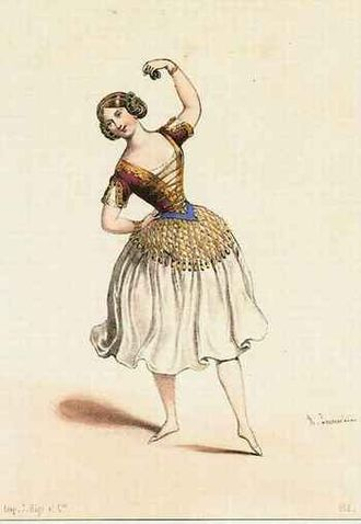 Romani people in Spain - The ballet dancer Carlotta Grisi as the Romani Paquita (1844).