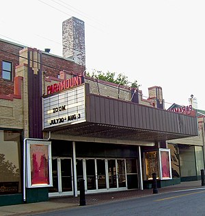 Paramount Theatre (Middletown, New York) - Theater marquee in 2007
