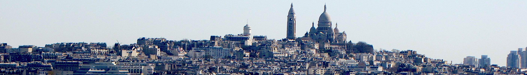 The hill of Montmartre as seen from the south