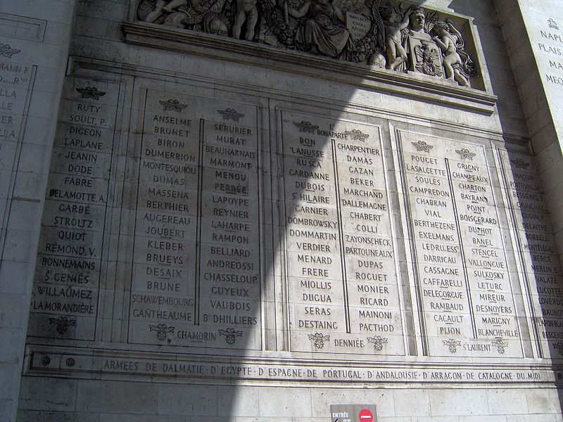 ไฟล์:Paris Arc de Triomphe inscriptions 7.jpg