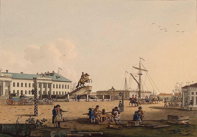 File:Paterssen View Senate Square with Monument of Peter the Great 1799.jpg
