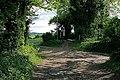 Path junction at Little Golders, nr Chilcomb - geograph.org.uk - 436949.jpg