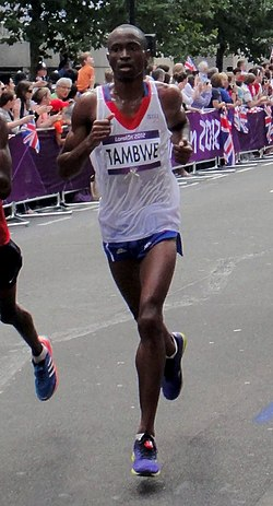 Patrick Tambwé - London 2012 Men's Marathon.jpg