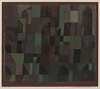 Paul Klee - Red-Green Architecture (yellow-violet gradation) - 1941.533 - Yale University Art Gallery.jpg