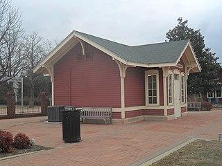 Pauls Valley station train station in Oklahoma