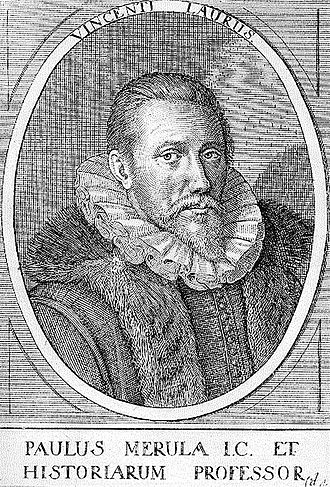 Paulus Merula - Line drawing of Paulus Merula, ca. 1605, by Vincent Laurus
