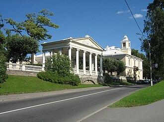 "Pavlovsk, Saint Petersburg - Entrance to the park with pavilion ""Three Graces"""