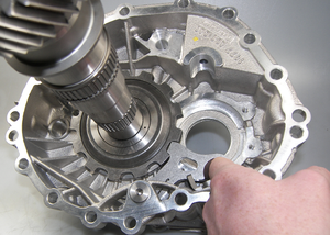 Transmission brake - Pawl transmission brake, inside an automatic transmission