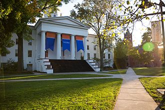 Gettysburg College - Pennsylvania Hall as it appears today. It now serves as the college's main administration building.