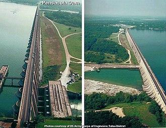 Mayes County, Oklahoma - Image: Pensacola Dam USACE