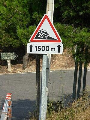 Grade (slope) - Image: Pente 30%