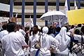 People's Action Party supporters, Greenridge Secondary School, Singapore - 20110427-03.jpg