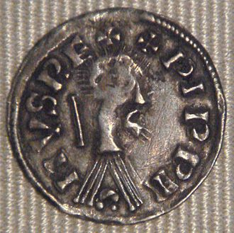 French denier - Denier of Pepin I of Aquitaine 817–838.
