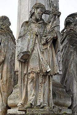 Pereszteg, Védőszentek szobra 2021 08 Nepomuki Szent János.jpg