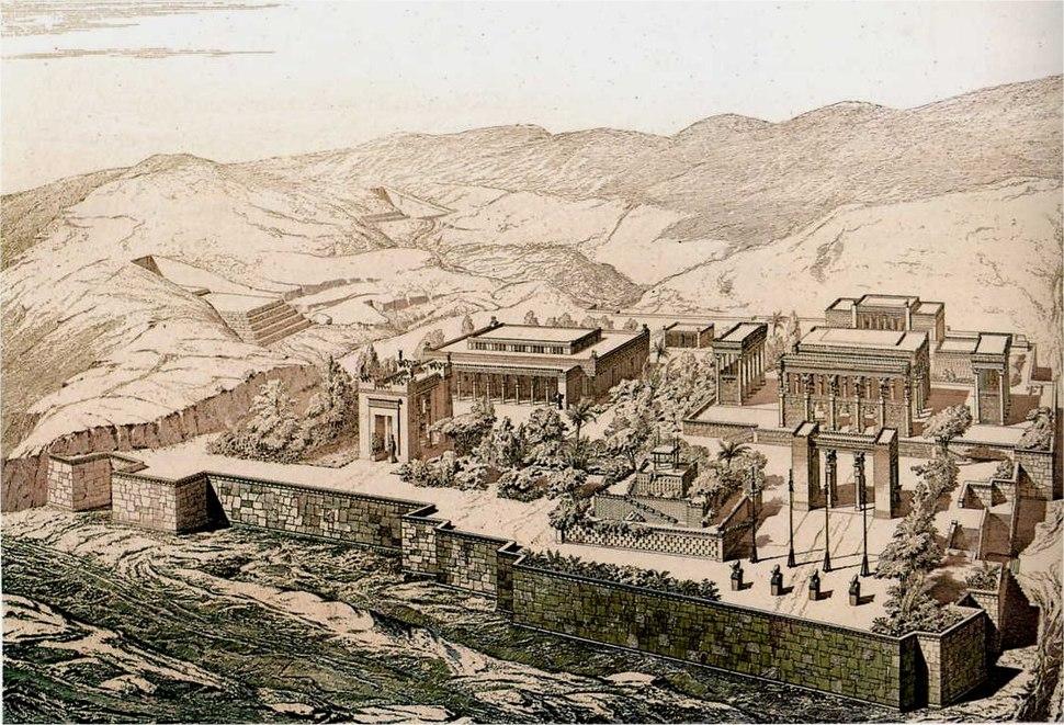Persepolis vue d'oiseau Chipiez