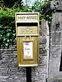 Pete Reed's gold postbox in Watledge Road, Nailsworth, Gloucestershire (1).jpg