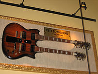 Guitar of Pete Townshend (The Who). Picture ta...